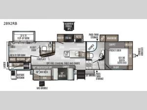 Rockwood Ultra Lite 2892RB Floorplan Image