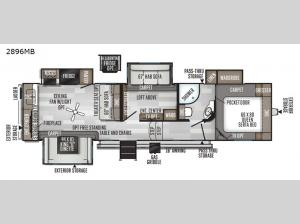 Rockwood Ultra Lite 2896MB Floorplan Image