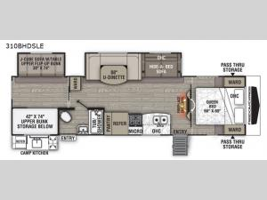 Freedom Express Liberty Edition 310BHDSLE Floorplan Image
