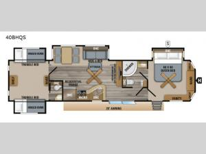 Jay Flight Bungalow 40BHQS Floorplan Image