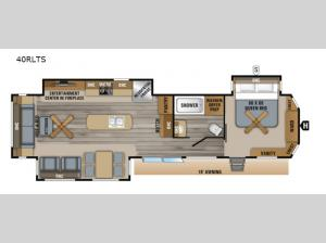Jay Flight Bungalow 40RLTS Floorplan Image