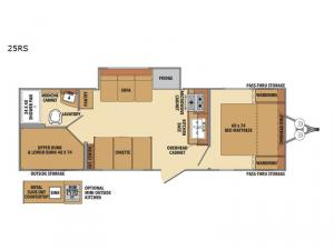 Shasta 25RS Floorplan Image