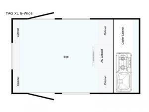 T@G XL 6-Wide Floorplan Image