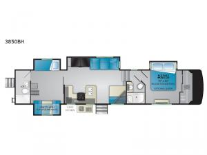 South Fork 3850BH Floorplan Image