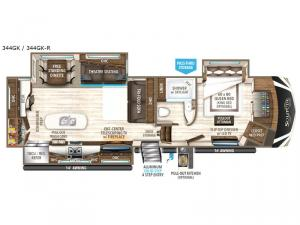 Solitude 344GK Floorplan Image