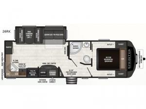 Sprinter Campfire Edition 26RK Floorplan Image