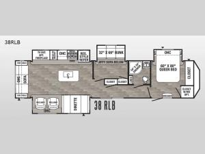 Puma Destination 38RLB Floorplan Image
