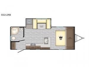 Sunset Trail Super Lite SS212RB Floorplan Image