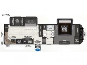 Sprinter Campfire Edition 27FWML Floorplan Image
