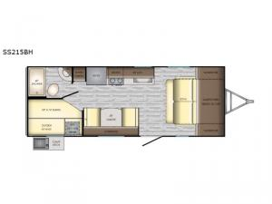 Sunset Trail Super Lite SS215BH Floorplan Image