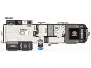 Sprinter Campfire Edition 31FWMB Floorplan Image