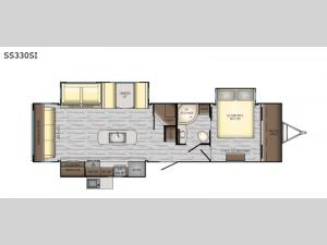Sunset Trail Super Lite SS330SI Floorplan Image