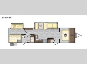 Sunset Trail Super Lite SS336BH Floorplan Image
