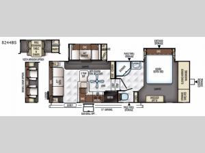 Rockwood Signature Ultra Lite 8244BS Floorplan Image