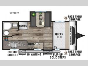 Escape E191BHK Floorplan Image