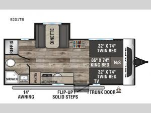 Escape E201TB Floorplan Image
