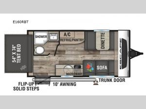 Escape E160RBT Floorplan Image