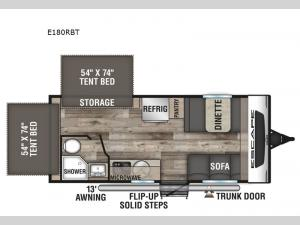Escape E180RBT Floorplan Image