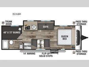 Escape E231BH Floorplan Image
