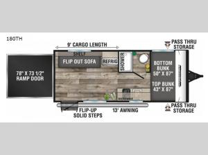 Sportsmen Classic 180TH Floorplan Image