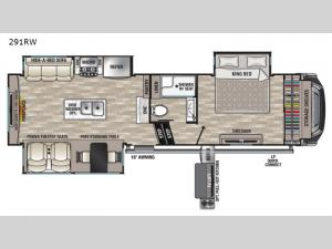 Cedar Creek 291RW Floorplan Image