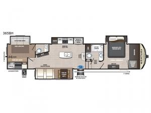 Montana High Country 365BH Floorplan Image
