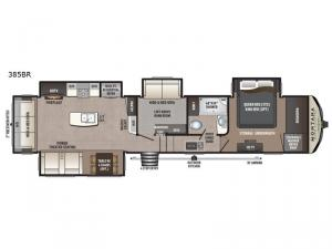 Montana High Country 385BR Floorplan Image