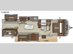 Eagle HT 312BHOK Floorplan Image