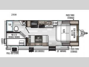 Rockwood Mini Lite 2508 Floorplan Image