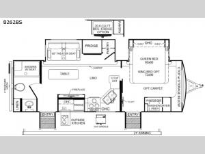 Rockwood Signature Ultra Lite 8262BS Floorplan Image