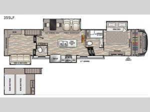 Cedar Creek 355LF Floorplan Image