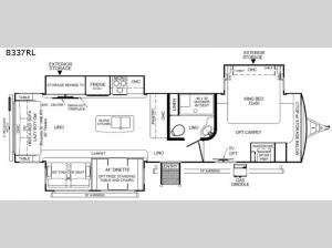 Rockwood Signature Ultra Lite 8337RL Floorplan Image