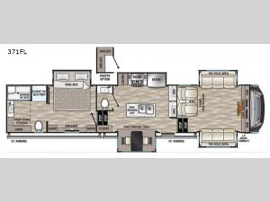 Cedar Creek 371FL Floorplan Image