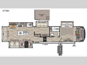 Cedar Creek 377BH Floorplan Image
