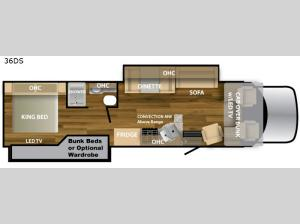Ghost 36DS Floorplan Image