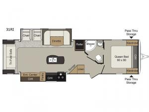 Passport Elite 31RI Floorplan Image
