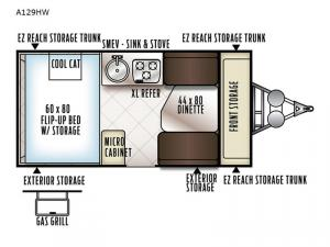 Rockwood Hard Side High Wall Series A192HW Floorplan Image