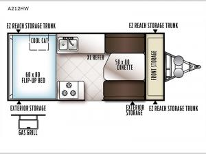 Rockwood Hard Side High Wall Series A212HW Floorplan Image