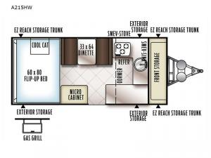Rockwood Hard Side High Wall Series A215HW Floorplan Image