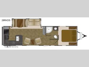 North Trail 28RKDS King Floorplan Image