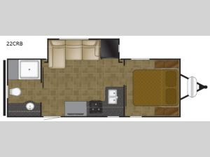 North Trail 22CRB Floorplan Image