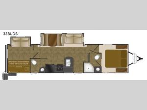 North Trail 33BUDS King Floorplan Image