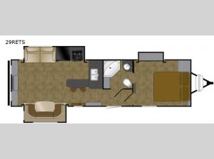 North Trail 29RETS King Floorplan Image