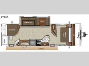 Jay Feather 27BHB Floorplan Image