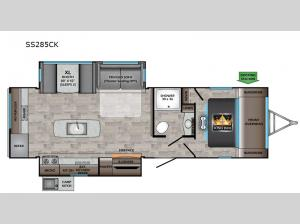 Sunset Trail SS285CK Floorplan Image
