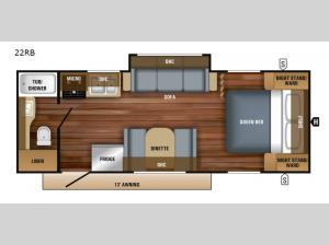 Jay Feather 22RB Floorplan Image