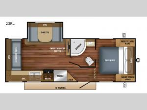 Jay Feather 23RL Floorplan Image
