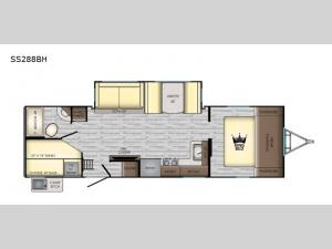 Sunset Trail Super Lite SS288BH Floorplan Image