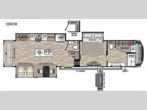 Cedar Creek 388DB Floorplan Image