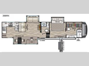 Cedar Creek 388RK Floorplan Image